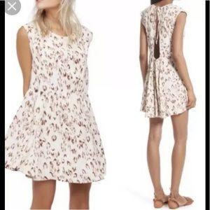 Free people mini swing tunic dress ivory combo M